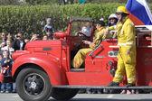 Parade of fire trucks — Stock Photo