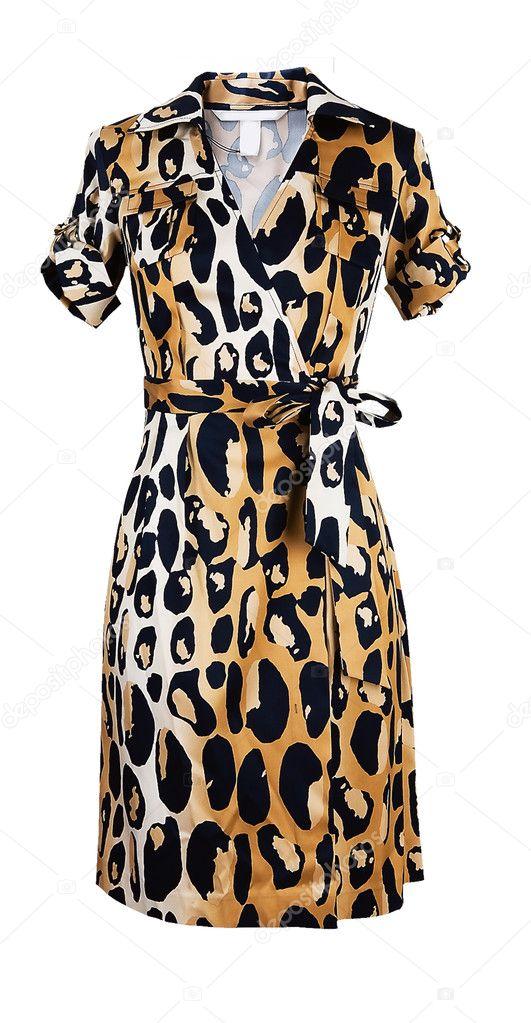 Пятнистое платье