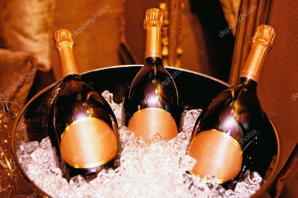 Christmas champagne  Stock fotografie #10512736