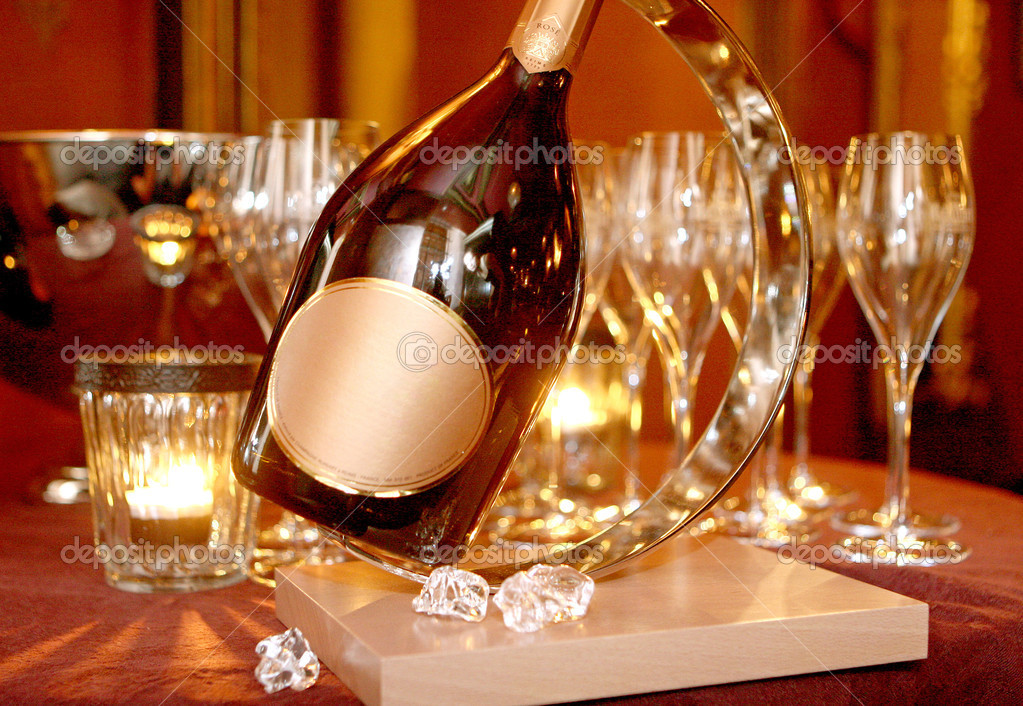 Christmas champagne — Stock Photo #10512737