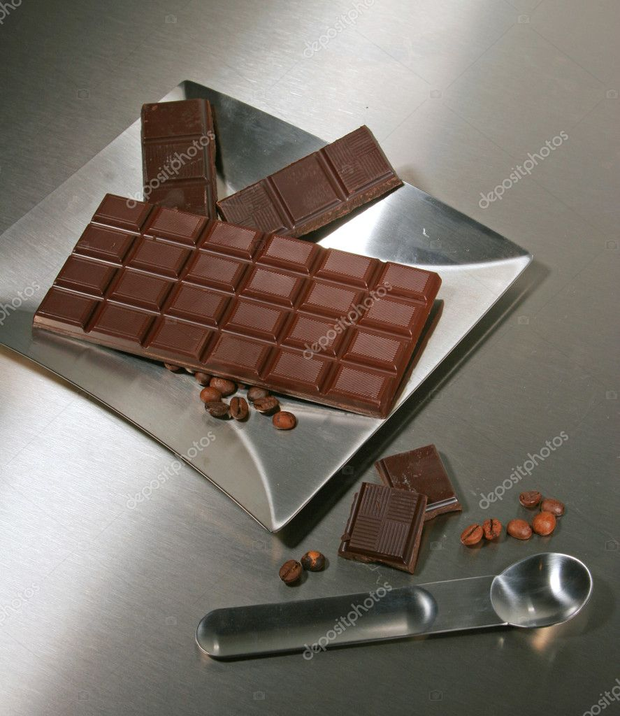 Coffee beans and chocolate — Stock Photo #10512930