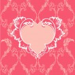 Royalty-Free Stock Vector Image: Heart  with floral pattern on vintage background