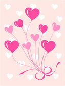 Greeting or invitation card with heart — Stock Vector