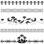 Set elements for design flowers and ornaments floral — Stock Vector