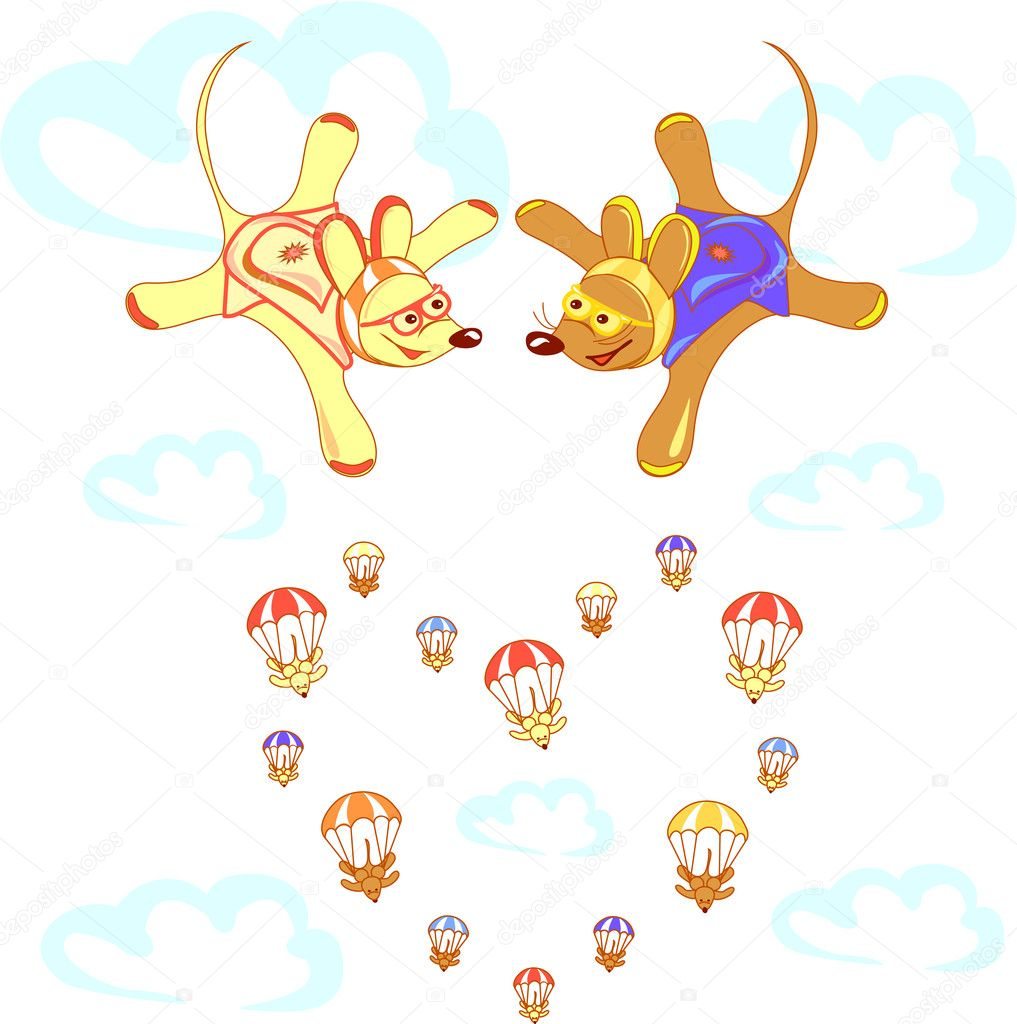 The valentine s day. Love heart. Greeting or invitation card. Vector Illustration of romantic mouse. Lovely animals with heart  — Stock Vector #10317925