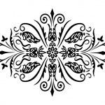 Rhombus flower ornament — Stock Vector