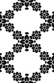 Seamless floral pattern on a white background — Stock Vector