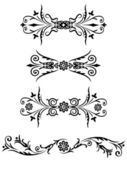 Vector elements for design flowers and ornaments floral. Decorating for the page — Stock Vector