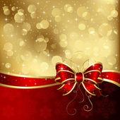 Christmas card with bow — Stock Vector