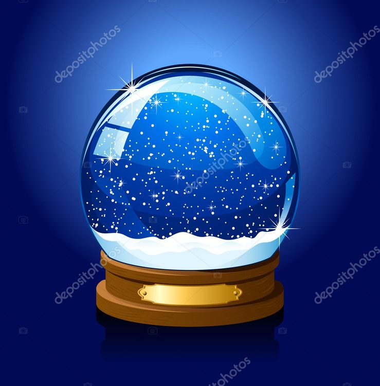 Christmas Snow globe with the falling snow, illustration — Stock Vector #10207818
