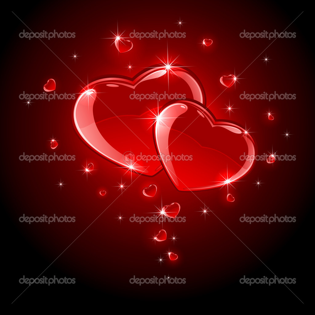 Valentines background with Hearts, illustration  — Stock Vector #10207821
