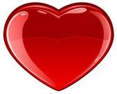 Corazón vidrioso — Vector de stock