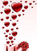 Valentine's gift box — Vector de stock