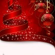 Royalty-Free Stock Imagem Vetorial: Christmas tree with stars and balls