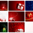 Royalty-Free Stock Imagem Vetorial: Set of cards with Presents