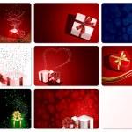 set di carte con regali — Vettoriale Stock