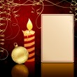Royalty-Free Stock Imagen vectorial: Candlelight and Christmas ball