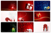 Set of cards with Presents — Stock Vector
