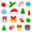 Christmas icons set — Stock Vector #10310008