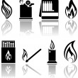 Stock Vector: Fire icons