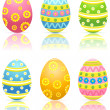 Set of colorful Easter eggs — Stock Vector #10381686