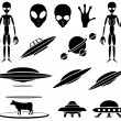 Stock Vector: Alien theme