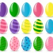 Stock Vector: Colored easter eggs