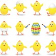 Easter chicks — Stock Vector