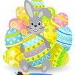 Stock Vector: Easter rabbit