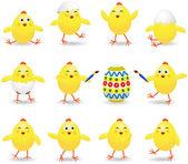 Easter chicks — Stock Vector