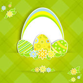 Paper easter card — Stock Vector