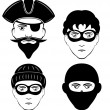 Criminals — Stock Vector