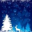 Background with reindeer - Vettoriali Stock 