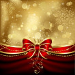 Elegant christmas bow - Stockvectorbeeld