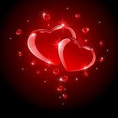 Shiny Hearts — Stock Vector
