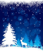 Background with reindeer — Stock Vector