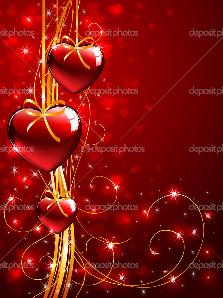 Valentines background with Hearts, illustration   Stock Vector #10410981
