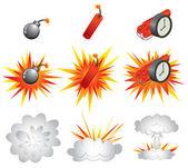 Explosive — Stock Vector