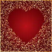 Ornate Heart — Stock Vector