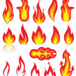 Flame icons — Stock Vector #10524832