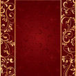 Gold frame on red background — Stok Vektör #10524833