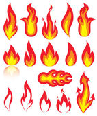 Flame icons — Stock Vector