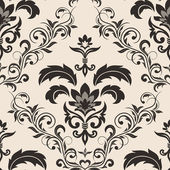 Seamless gothic floral wallpaper — Stock Vector