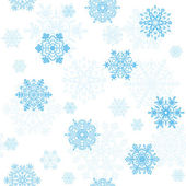 Snowflakes seamless wallpaper — Cтоковый вектор