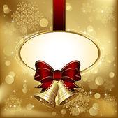 Vánoční zvonky s lukem — Stock vektor