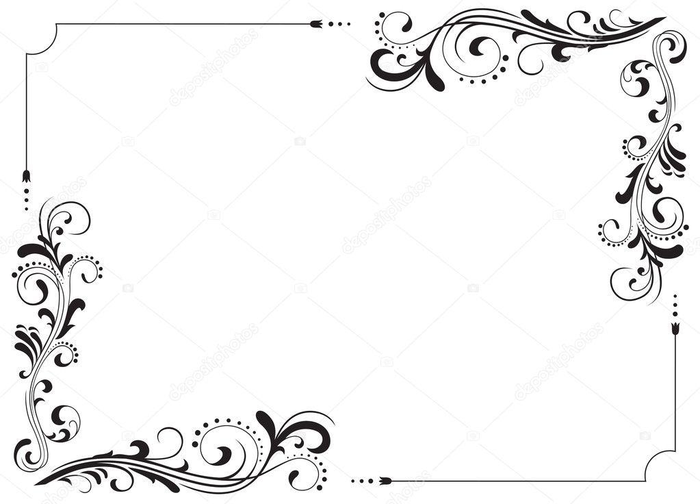 Marcos Esquineros Para Fotos De Flores: Vector De Stock © Losw #10524850