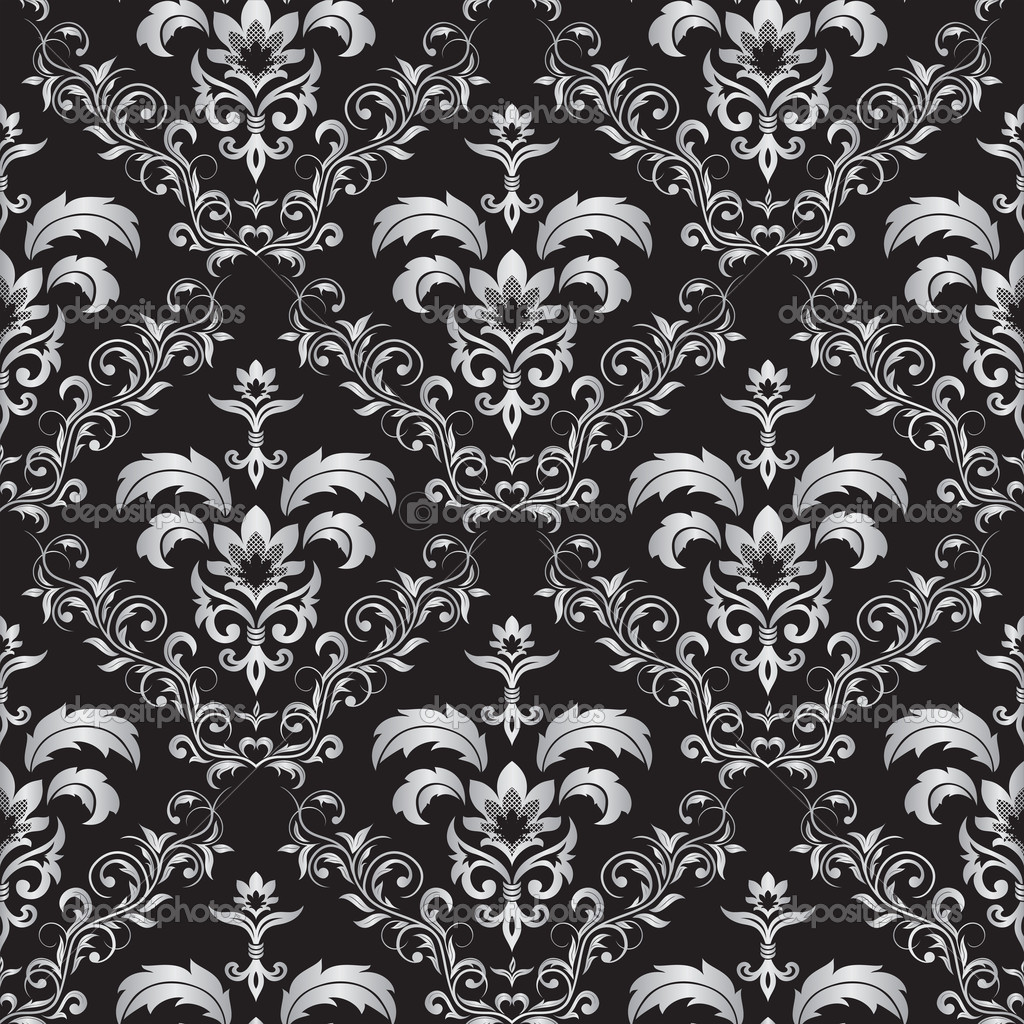 Seamless gothic ornament - Stock IllustrationGothic Floral Pattern