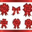 Stock Vector: Holiday bows