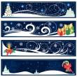 Рождественские баннеры — Cтоковый вектор