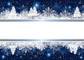 Blue Christmas background with snowflakes and stars — Stok Vektör